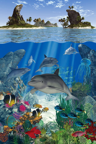 Dolphin Reef (49 Piece Mini Wooden Jigsaw Puzzle)