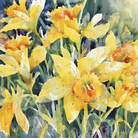 A Day for Daffodils (225 Piece Wooden Jigsaw Puzzle)