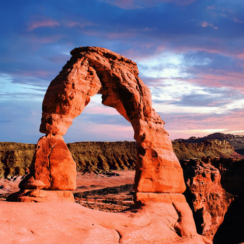 Delicate Arch Sunset (183 Pieces) Wooden Jigsaw Puzzle