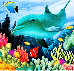 Dolphins At Play (139 Piece Wooden Jigsaw Puzzle)