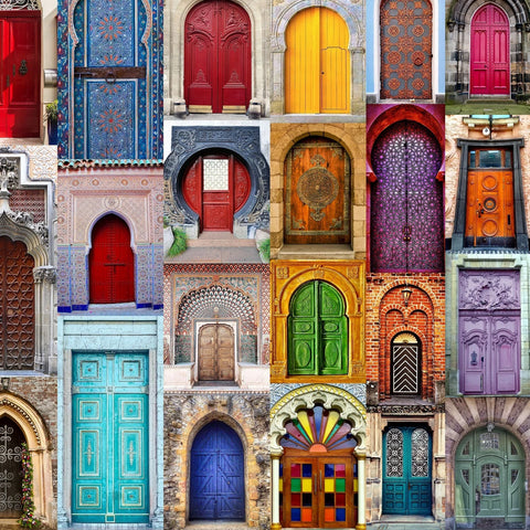 Doors to the World (557 Piece Wooden Jigsaw Puzzle)