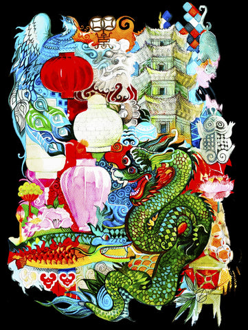 Dragon Dreams (321 Piece Wooden Jigsaw Puzzle)