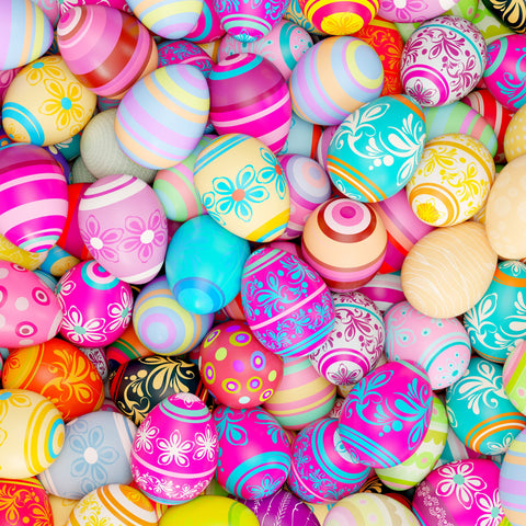 Easter Eggs (60 Piece Mini Wooden Jigsaw Puzzle)