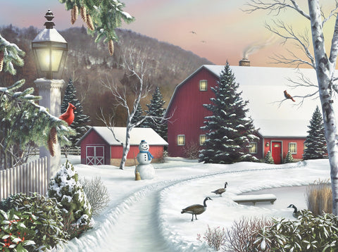 First Snow of Winter (475 Piece Wooden Jigsaw Puzzle)