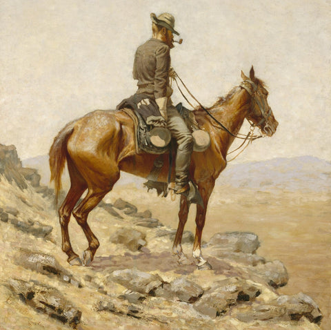The Lookout (181 Pieces) by Frederic Remington, Wooden Jigsaw Puzzle