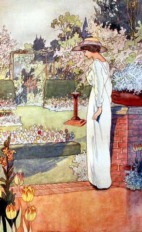 Garden Lady (47 Pieces) by Charles Robinson, Mini Wooden Jigsaw Puzzle