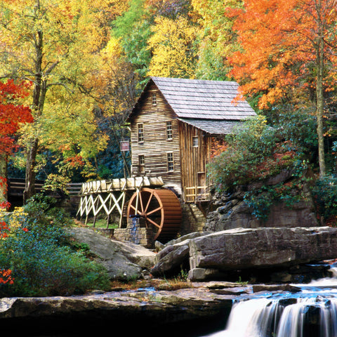 Glade Creek Grist Mill (190 Piece Wooden Jigsaw Puzzle)