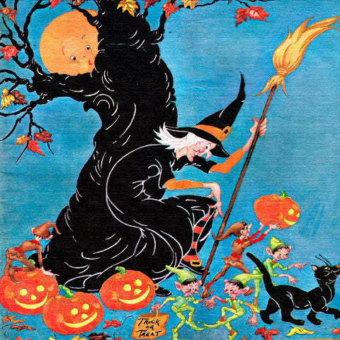 Happy Halloween (50 Pieces) Mini Wooden Jigsaw Puzzle