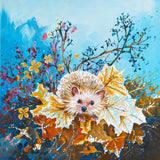 Hedgehog in Autumn (50 Piece Mini Wooden Jigsaw Puzzle)