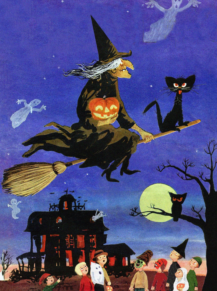 Halloween Fly Over (50 Pieces) Mini Wooden Jigsaw Puzzle