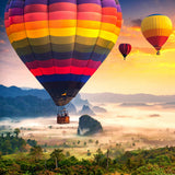 Hot Air Balloons Over Phu Langka, Thailand - 225 Piece Wooden Jigsaw Puzzle