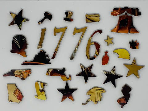 The Declaration of Independence, July 4, 1776 - 381 Piece Wooden Jigsaw Puzzle