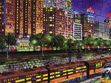 Chicago Nights (295 Piece Wooden Jigsaw Puzzle)