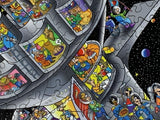 Space Colony (522 Piece Wooden Jigsaw Puzzle)