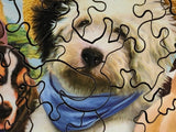 Dogs in Togs (150 Piece Wooden Jigsaw Puzzle)