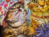 Cats in Hats (146 Piece Wooden Jigsaw Puzzle)