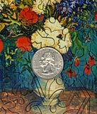 Vase With Summer Flowers (50 Piece Mini Wooden Jigsaw Puzzle)