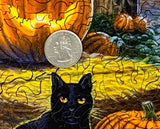 Cat O'Lantern  - 292 Piece Wooden Jigsaw Puzzle