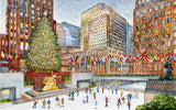 Ice Skaters at Rockefeller Center (249 Piece Wooden Christmas Puzzle)