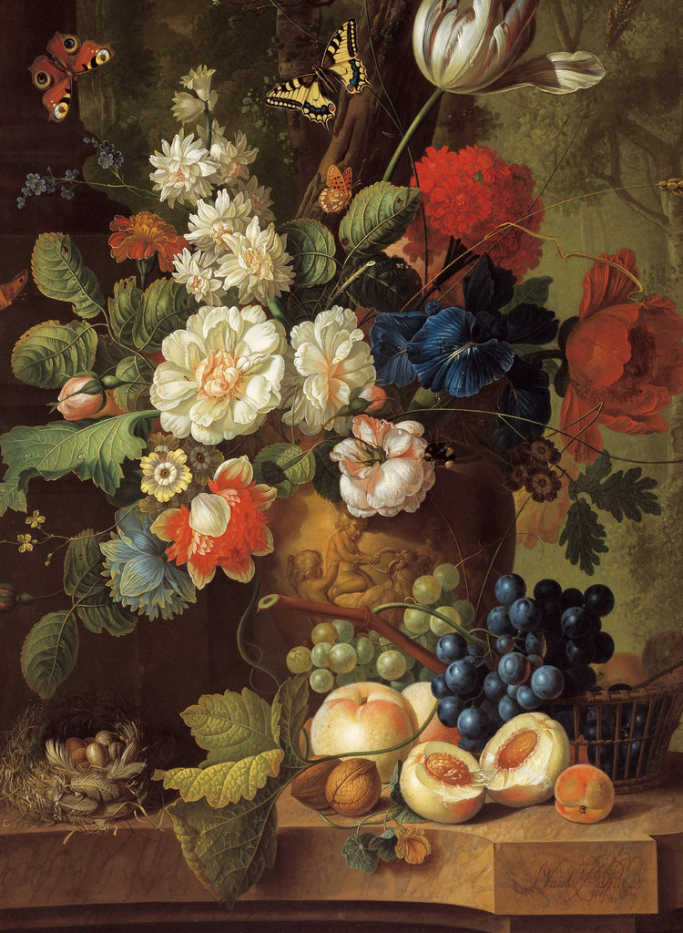 Flowers, 1780 by Jan van Os (172 Piece Wooden Jigsaw Puzzle)