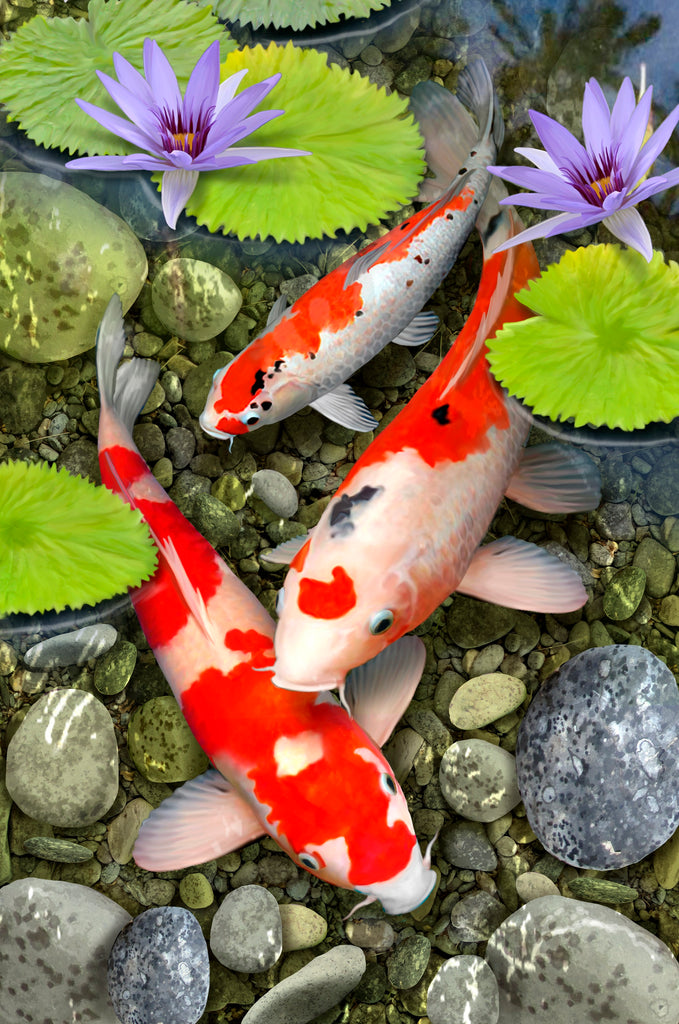 Koi Pond by Howard Robinson (400 Piece Wooden Jigsaw Puzzle)