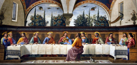 The Last Supper by Domenico Ghirlandiao (475 Piece Wooden Jigsaw Puzzle)