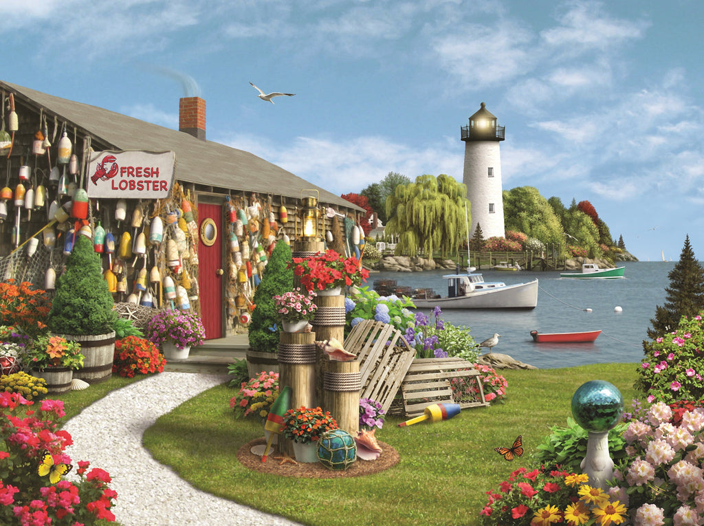 Lobster Cove (473 Piece Wooden Jigsaw Puzzle)