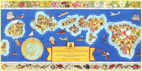 Map of Hawaii (471 Piece Wooden Jigsaw Puzzle)