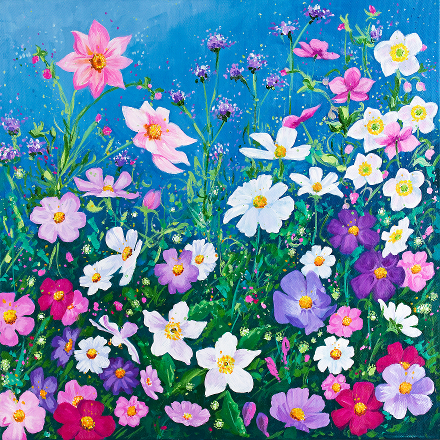 Cosmos Meadow (48 Piece Mini Wooden Jigsaw Puzzle)