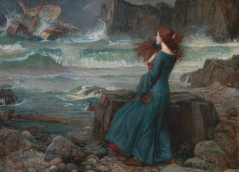 Miranda (The Tempest) by John William Waterhouse - Wooden Jigsaw Puzzle - 510 Pieces