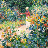Monet's Garden at Giverny, 1895 (48 Piece Mini Wooden Jigsaw Puzzle)