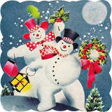 Mr. & Mrs. Snowman (50 Piece Mini Christmas Wooden Jigsaw Puzzle)