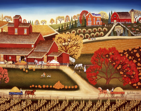 Wooden Jigsaw Puzzle Fall Plowing by Grant Wood Made in The USA by Nautilus Puzzles 351 Unique Wooden Pieces Challenge Any Puzzle Lover