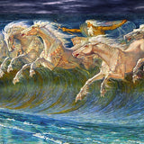 Neptune's Horses by Walter Crane (404 Piece Wooden Jigsaw Puzzle)