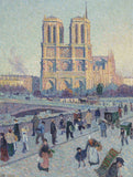 The Quai Saint-Michel and Notre-Dame - 300 Piece Wooden Jigsaw Puzzle