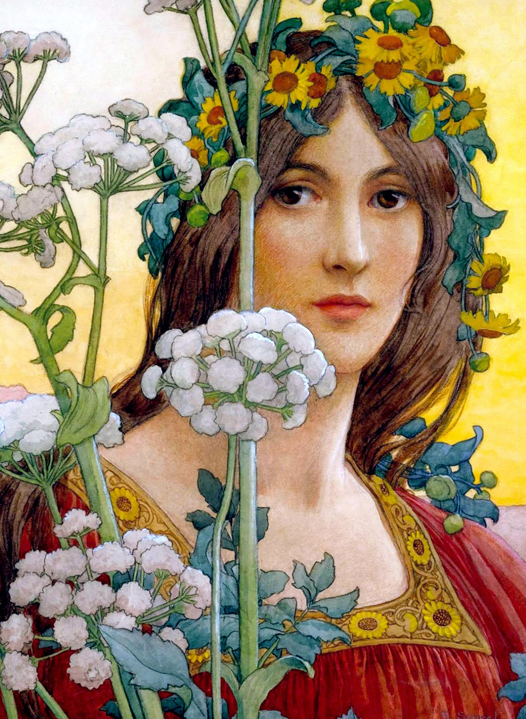 Our Lady Of The Cow Parsley 367 Pieces By Elizabeth Sonrel Wooden Jigsaw Puzzle Nautilus Puzzles Wooden Jigsaw Puzzles For Adults