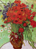 Vase with Red Poppies and Daisies, 1890 by Van Gogh (120 Piece Wooden Jigsaw Puzzle)