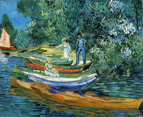 Rowing Boats on the Banks of the Oise by Vincent Van Gogh (434 Piece Wooden Jigsaw Puzzle)