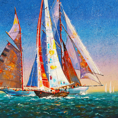 Sails in the Open Sea (50 Piece Mini Wooden Jigsaw Puzzle)