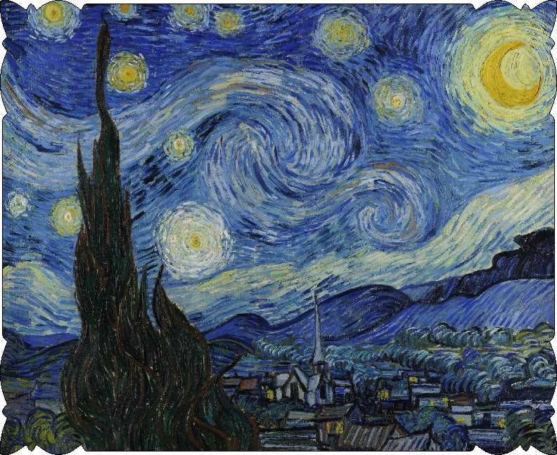 Starry Night by Vincent Van Gogh (211 Piece Wooden Jigsaw Puzzle)