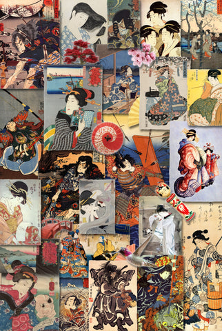 Samurai and Geisha - 302 Piece Wooden Jigsaw Puzzle