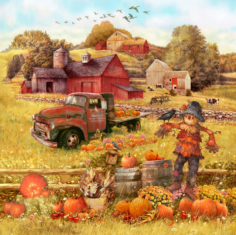 Scarecrow and Friends (190 Piece Wooden Jigsaw Puzzle)