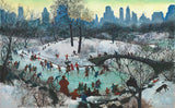 Skating In Central Park (249 Piece Wooden Christmas Puzzle)