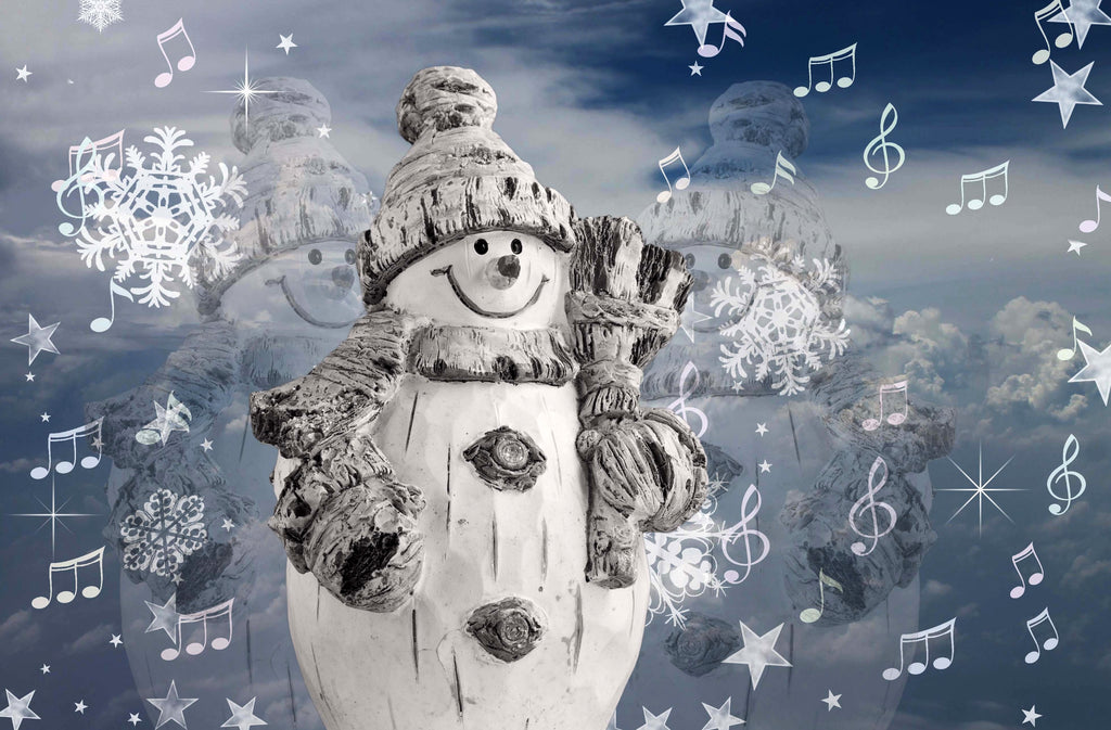 Snowmen, Snowflakes Stars & Songs (51 Piece Mini Christmas Wooden Jigsaw Puzzle)