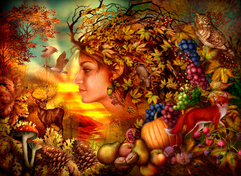 Spirit of Autumn (385 Piece Wooden Jigsaw Puzzle)