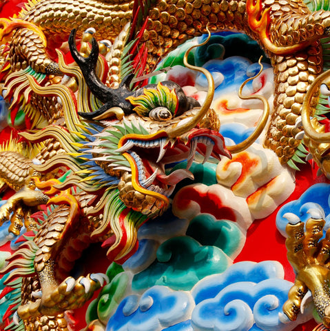 Thai Dragon (150 Piece Wooden Jigsaw Puzzle)