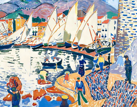 The Drying Sails (425 Pieces) by Andre Derain, Wooden Jigsaw Puzzle