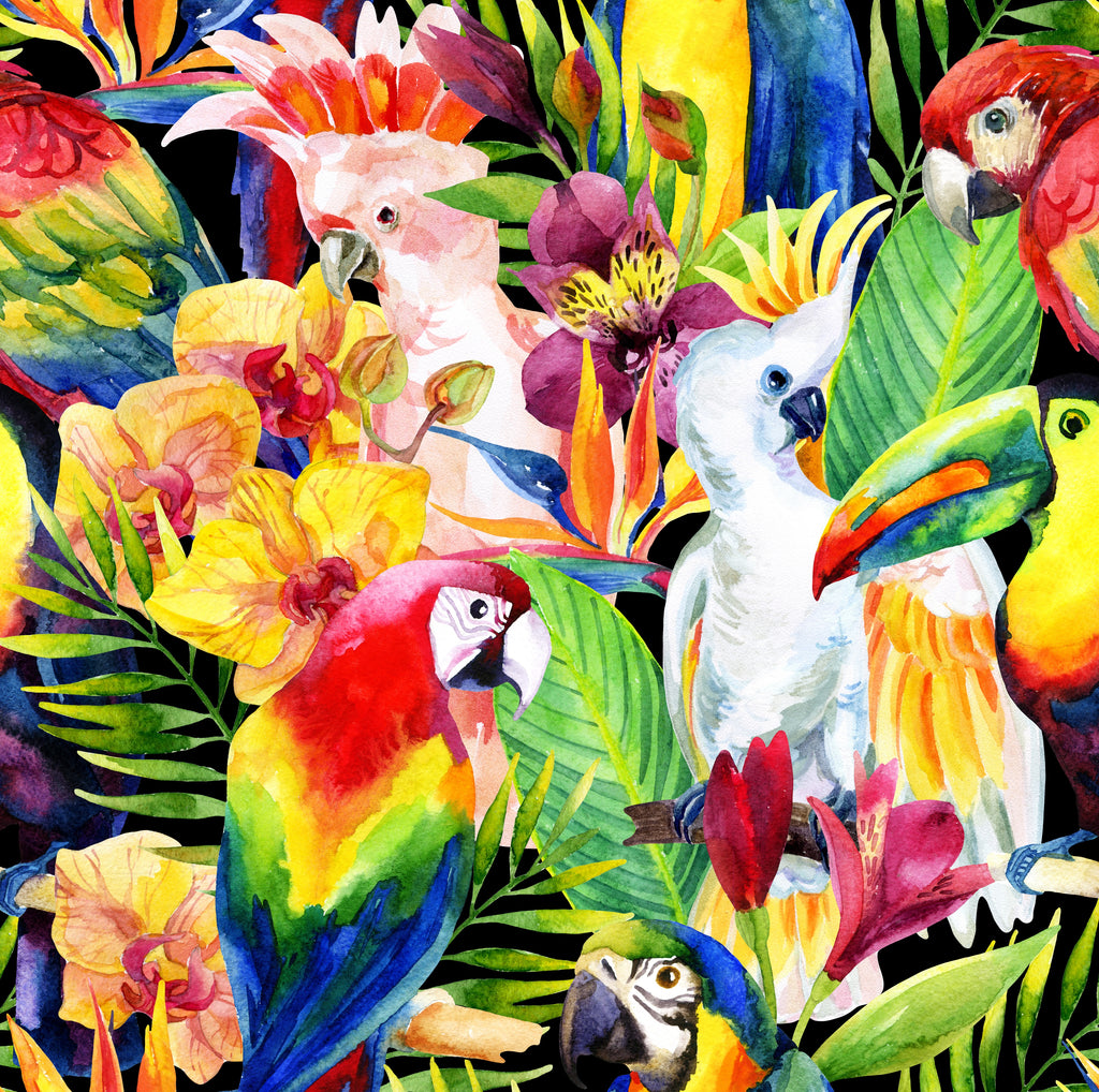 Tropical Birds - 222 Piece Wooden Jigsaw Puzzle