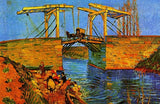 Langlois Bridge At Arles by Vincent Van Gogh (50 Pieces) Mini Wooden Jigsaw Puzzle