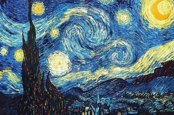 Starry Night by Vincent Van Gogh (50 Pieces) Mini Wooden Jigsaw Puzzle